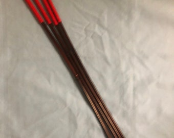 The Regina Quartet*VERY RARE*- Set of 4 Smoked Dragon Canes - Imperial Red Paracord  - 95 cms L & 9-10/10-11/11-12/12-13 mm D