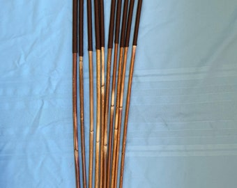 SALES SPECIAL - Set of 10 Classic Dragon Rattan Punishment Canes / School Canes / BDSM Canes ( Brown Handles )  -See specs