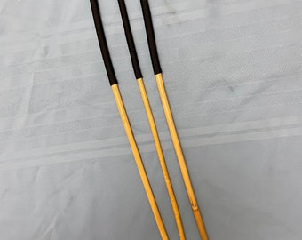 Beginners Kooboo Cane Trio - Set of 3 Classic Kooboo Rattan Punishment canes / School Canes / BDSM Canes - BLACK Handles