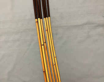 Six of the very Best- Classic Dragon Cane Set of 6 Classic Dragon Canes - 90 cms L & 7-8/8-9/9-10/10-11/11-12/12-13 mm D - BROWN Paracord