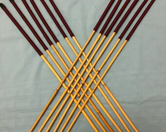 Dozen of the Best - Set of 12 Classic Dragon Rattan Punishment Canes / School Canes / BDSM Whipping Canes ( Burgundy Handles )