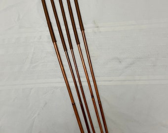 The Regina Quintet *VERY RARE*- Set of 5 Smoked Dragon Canes - BROWN Paracord  - 95 cms L & 8-9/9-10/10-11/11-12/12-13 mm D