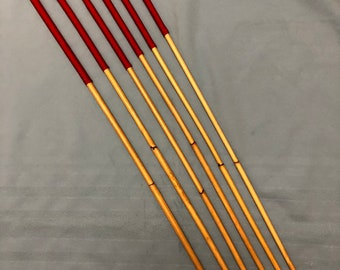 Six of the Best - Set of 6 Classic Dragon Rattan Punishment Canes / School Canes / BDSM Whipping Canes ( Imperial Red )