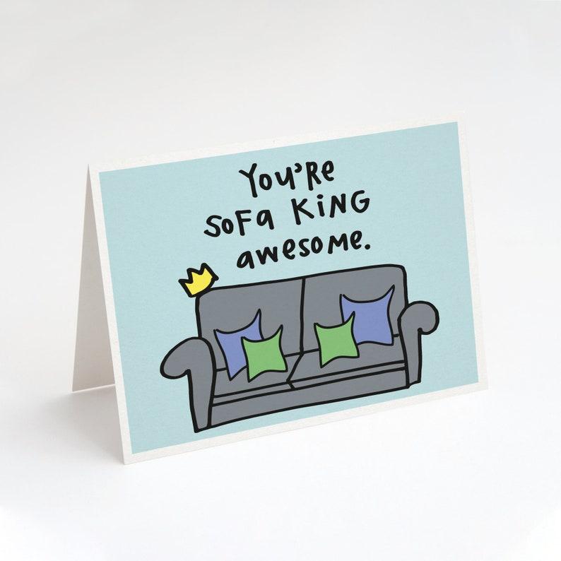 Du Bist Sofa König Genial Gruß Card Sofa Couch Dekor Etsy