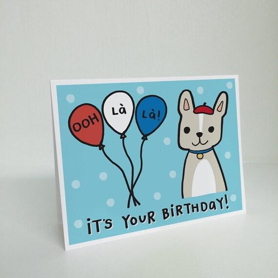 Ooh La La Its Your Birthday Greeting Card Birthday Etsy