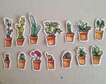 Potted friends/ cactus/succulents plant/ plants are friends stickers