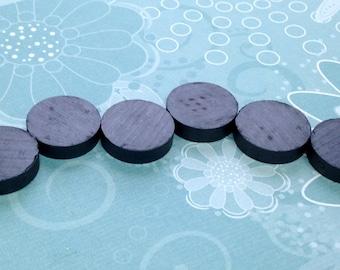Master Magnet 1 In Dia Black Disc Magnet 6 Per Pack 96254 The Home Depot