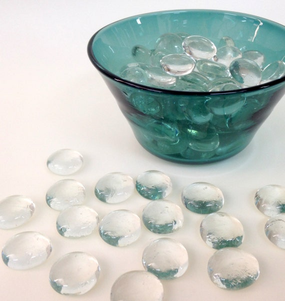 2 Lb Clear Flat Glass Marbles Vase Filler Glass Stones Etsy