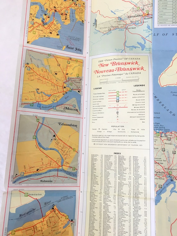 Vintage New Brunswick Canada Highway Map - 1973. Vintage Canada map, on ontario canada map, ottawa canada map, princeton canada map, chicago canada map, nunavut canada map, manitoba canada map, yellowknife canada map, oregon canada map, quebec canada map, new york state canada map, queen's university canada map, alberta canada map, maine map, amherst canada map, prince edward island canada map, saskatchewan canada map, new hampshire canada map, newfoundland canada map, yukon territory canada map, nova scotia map,