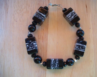 Black and White mix Bracelet