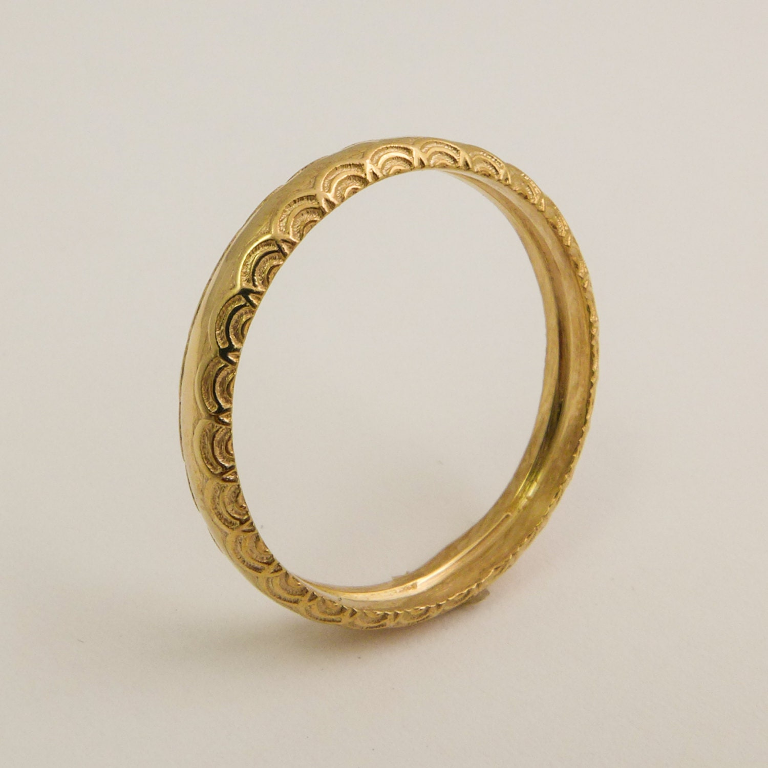 14k 18k Gold Simple Wedding Ring For Women Gold Ring With Etsy