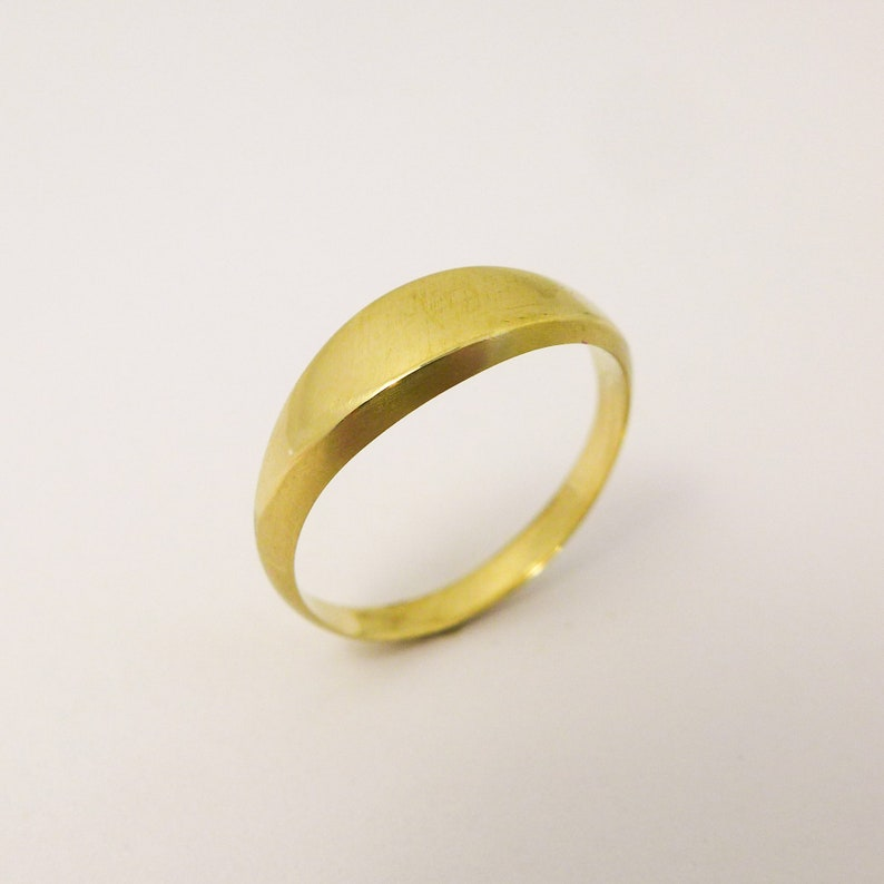 c8c51d1cb6959d Brushed Gold Ring for Men and Women Simple Signet Ring | Etsy