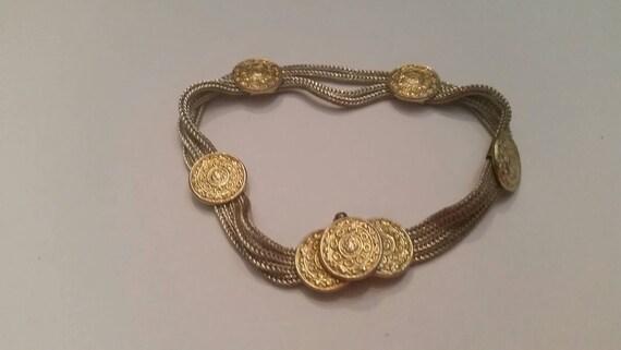 Gold Vermeil Medallion Sterling Silver Chains Brac