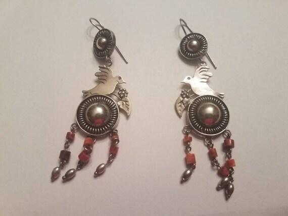 Chandelier Sterling Silver Spiny Oyster Earrings
