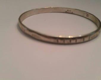 Stamped Sterling Silver  925 Bangle Bracelet Southwestern