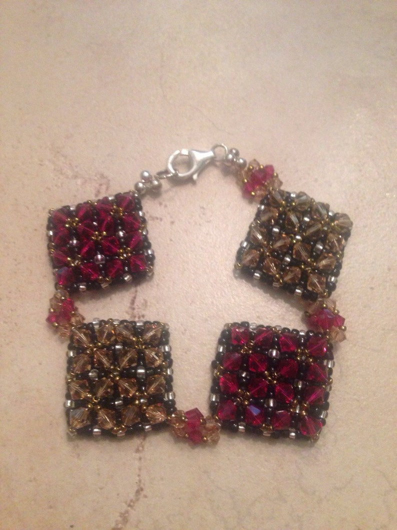 Kumihimo Crystal Bracelet Sterling Silver Amethyst Purple Clear 925 Bali Beaded Woven Jewelry Persian  Bali Woven