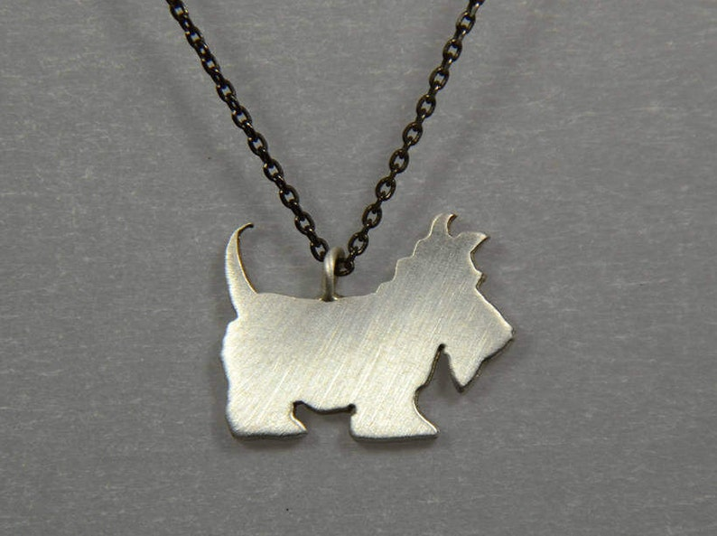 fc043681c Sterling Silver 925 Scottish Terrier Dog Charm Necklace Animal | Etsy
