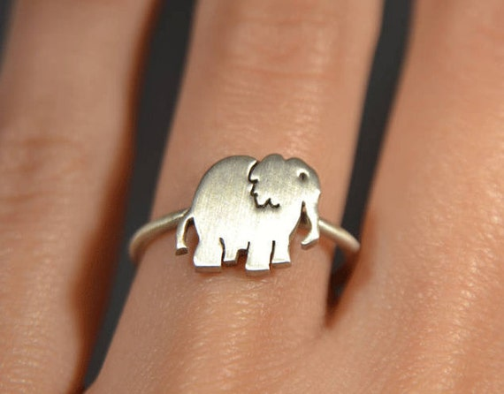 ac90aa2f242a Elefant Ring Sterlingsilber 925 Tier Elefant Kinder Schmuck   Etsy