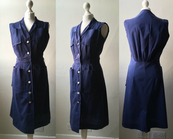 Vintage late 1940s early 1950s Helen Whiting navy