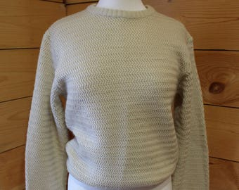 9fb97fdbbc Vintage 1978 Simple Levi s Cream Knit Crewneck Pullover Sweater