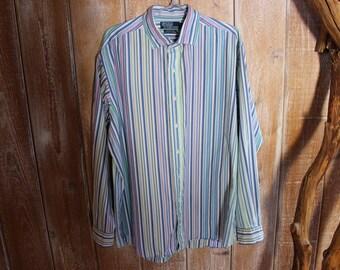 Polo RALPH LAUREN Homme Vert/Blanc Plaid Resort Lin Bouton Devant Shirt Vêtements et accessoires Chemise