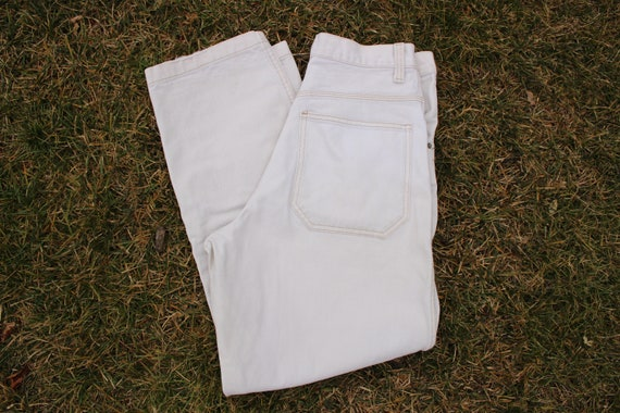 VTG 90s JNCO White Baggy Deep Socket Jeans