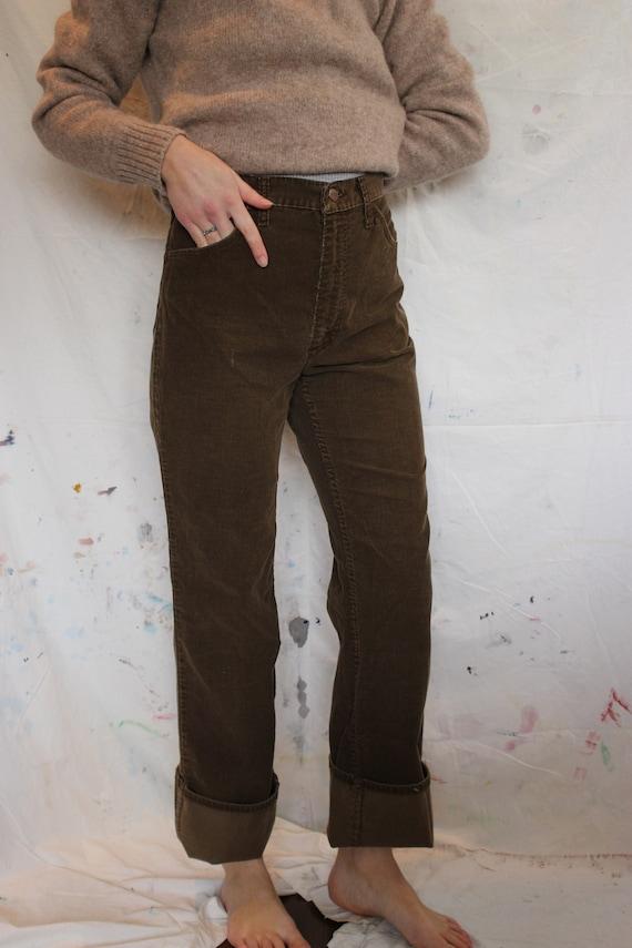 VTG 70s Brown Corduroy Maverick Pants 30