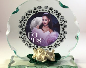 2582606bc Ariana Grande, Focus, Cut Glass Round Plaque Limited Edition #1