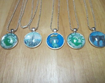 New York City Glass Dome Necklace