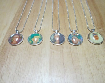 Frida Kahlo Glass Dome Necklace