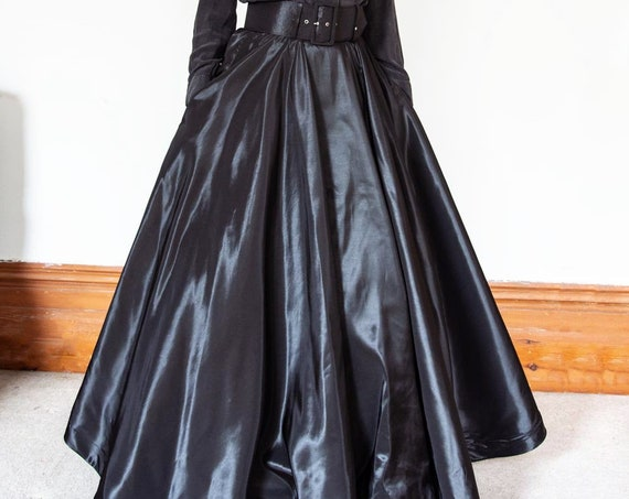 Floor Length Maxi flared taffeta Ball skirt