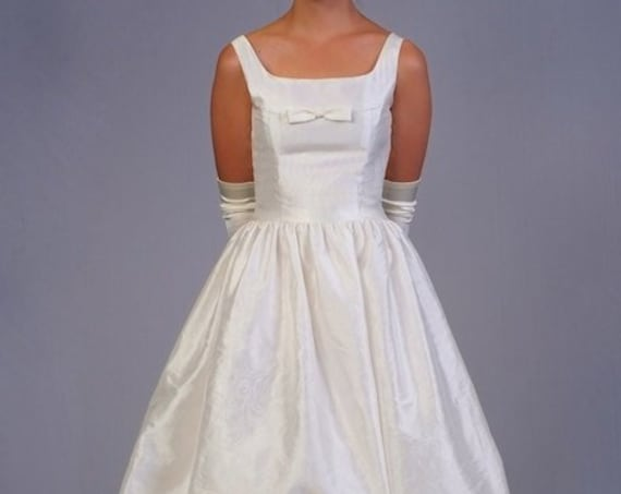 50s style taffeta dress with bubble skirt