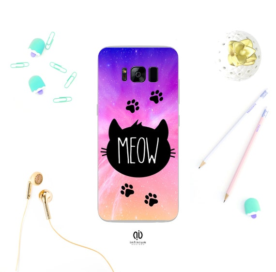 Meow Cat Case For Samsung S9 Iphone Xs Xs Max Iphone Xr 8 Plus Iphone 8 Iphone 7 Iphone 6s 5s S9 Plus Samsung S8 S8 Plus Note 9