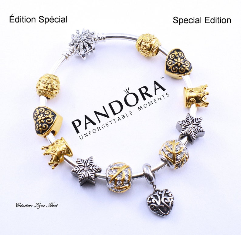 9869b9ea55ef Special Edition- PANDORA Rigid sterling silver 925 with all stainless steel  charms and gift box included - Gift for Mom -