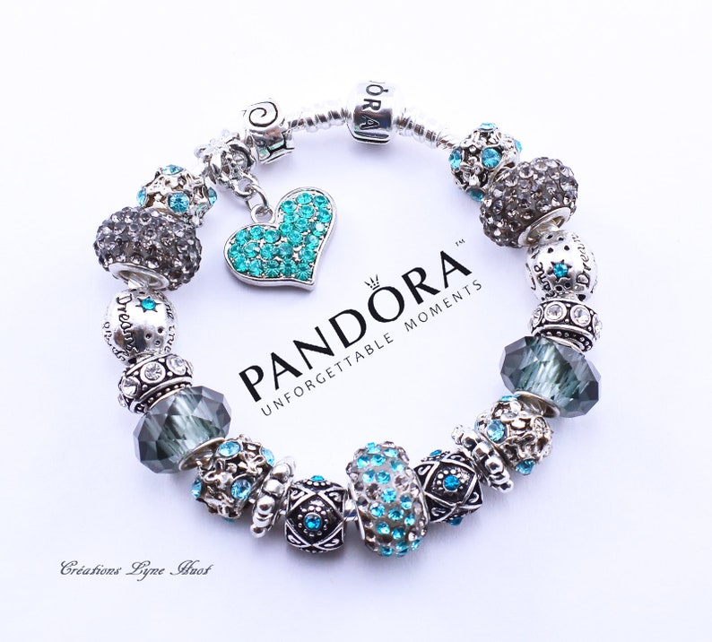 9f1fd18df43e Guenine PANDORA Bracelet Sterling silver 925 with all the beads -OR-select  European stainless steel bracelet LOVE with charms-