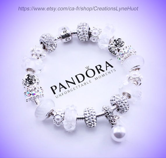 Authentic Pandora Bracelet Sterling Silver With Charms And Etsy