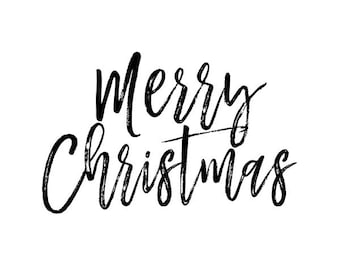 merry christmas text overlay clip art png transparent handwritten script calligraphy holiday cards tags gifts instant download - Merry Christmas Black And White