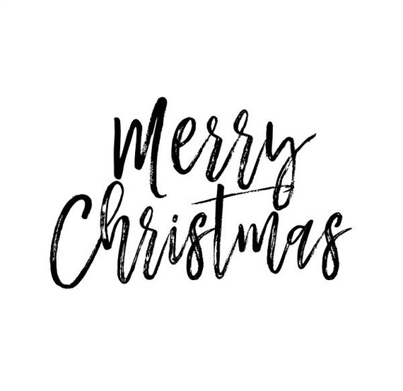 Merry Christmas Text Overlay Clip Art PNG Transparent | Etsy