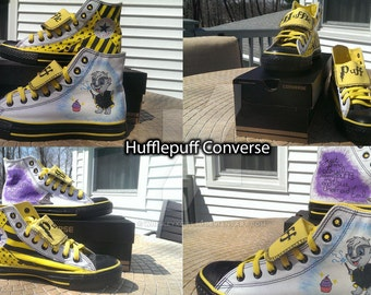 Harry Potter Custom Converse: Hufflepuff