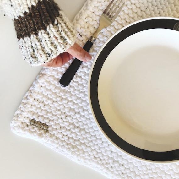 Cotton Placemat Organic Placemats Knit Placemat Crochet Etsy