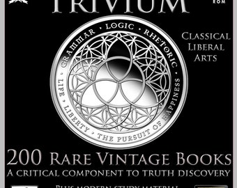 Occult books etsy 200 rare vintage books on dvd the trivium classical liberal arts education freemasonry occult knowledge wisdom harvard princeton ebooks fandeluxe Images