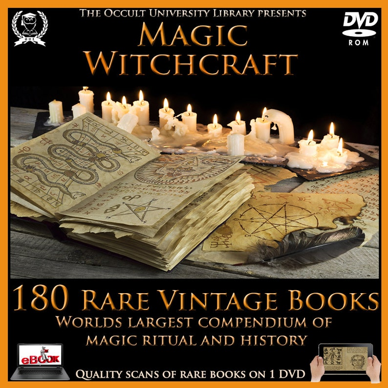 180 Rare Magic Witchcraft Occult Esoteric Sorcery Divination Spell Grimoire  Ritual Magick Books on DVD