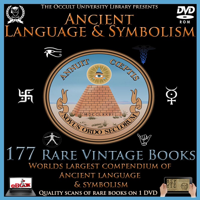 177 Rare Vintage Books on DVD Ancient Symbol Symbolism Language Texts  Masonic Freemason Illuminati Spiritual ebook