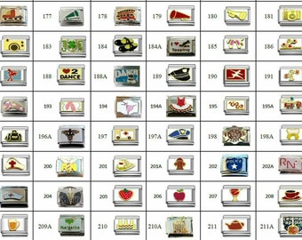 Italian Charms Your Choice -  Hundreds of Charms to choose Food Beauty Wine Medical Music Choose from all regular listings Listing (#2)