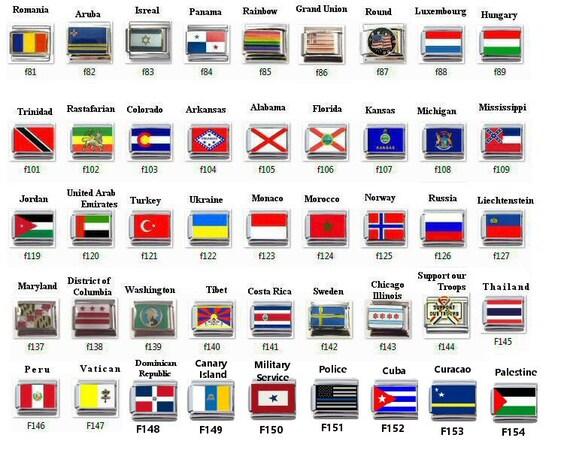 Thailand Flag talian Charm Stainless Steel NEW