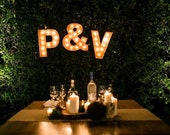 "Any Two 18"" Marquee Letters and One & (ampersand)"