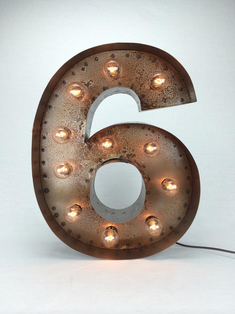 timeless design e16f4 198d0 18 Marquee Numbers...light up number vintage number   Etsy