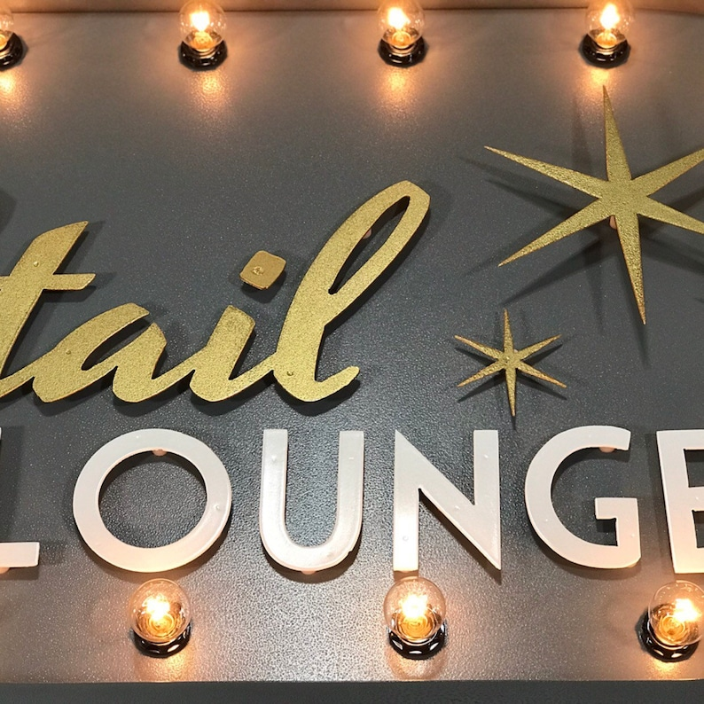 Cocktail Marquee Sign Customizable Light Up Sign   Etsy
