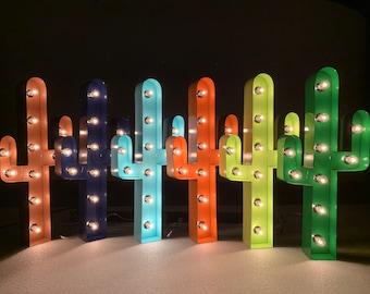 """Cactus Marquee 24"""", Cactus Wall Decor, Light Up Cactus"""
