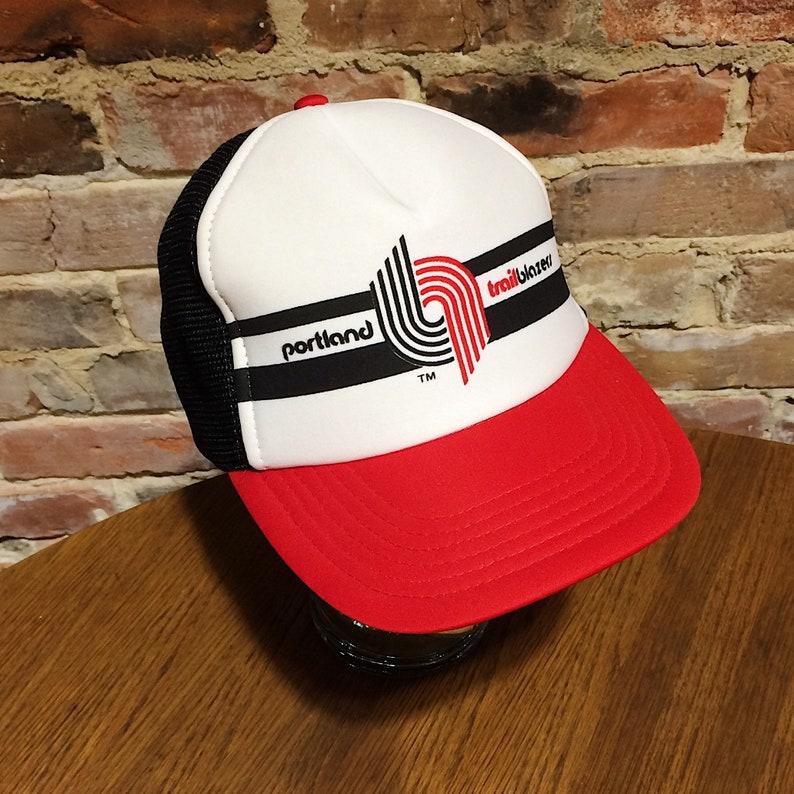 acbaf675c46 Vintage Portland Trail Blazers Snap Back Baseball Cap Trucker